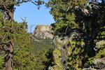 Mount Rushmore seen from Iron Mountain Road, Peter Norbeck Scenic Highway, Keystone, South Dakota, USA
