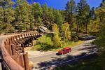 Pigtail Bridge, Iron Mountain Road, Peter Norbeck Scenic Highway, Keystone, South Dakota, USA