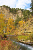 Long Valley Picnic Area, Spearfish Creek, Spearfish Canyon, Black Hills, Spearfish, South Dakota, USA