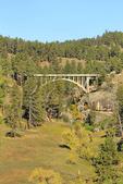 Entrance Road Bridge, Wind Cave National Park, Black Hills, Hot Springs, South Dakota, USA