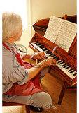Playing Harpsichord at Colonial Williamsburg, Virginia