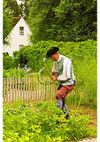 Working in Garden at Colonial Williamsburg, Virginia