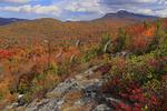 Grandfather Mountain seen from Flat Rock, Blue Ridge Parkway, North Carolina, USA