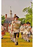Drum Major in front of the Governor's Palace in Colonial Williamsburg, Virginia
