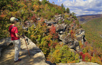 Linville Gorge From Wisemans View, Linville, North Carolina, USA