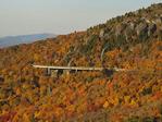 Linn Cove Viaduct Seen From Rough Ridge, Tanawha Trail, Blue Ridge Parkway, North Carolina, USA