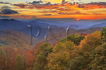 Sunset, Saco Gap Area, Blue Ridge Parkway, Grandfather Mountain, North Carolina, USA