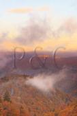 Sunrise, Saco Gap Area, Blue Ridge Parkway, Grandfather Mountain, North Carolina, USA