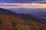 Sunrise, North of Balsum Gap, Blue Ridge Parkway, Grandfather Mountain, North Carolina, USA