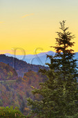 Sunrise, Looking East, Waterrock Knob, Blue Ridge Parkway, Sylva, North Carolina, USA