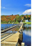 Floating Bridge at Brookfield, Vermont