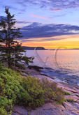 Sunrise Near Thunder Hole, The Ocean Trail, Acadia National Park, Maine, USA