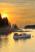 Sunset, Harbor, Port Clyde, Maine, USA