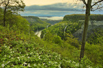 Great Bend Overlook, Genesee River, Letchworth State Park, Castile, New York, USA