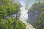 Inspiration Point, Middle Falls, Genesee River, Letchworth State Park, Castile, New York, USA