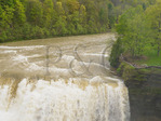 Middle Falls, Genesee River, Letchworth State Park, New York, USA