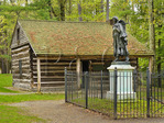 Mary Jemison Statue and Council Grounds, Letchworth State Park, New York, USA