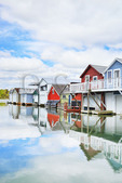 Canandaigua Boathouses, Canandaigua Lake City Pier, Canandaigua, New York, USA
