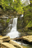 Cow Sheds Falls, Filmore Glen State Park, Finger Lakes, Moravia, New York, USA