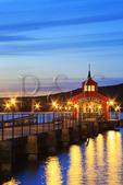 Sunset, Town dock on Seneca Lake, Finger Lakes, Watkins Glen, New York, USA