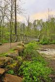 Brandywine River Bridge, Brandywine Gorge Trail, Cuyahoga Valley National Park, Brecksville, Ohio, USA