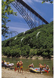 Rafters under New River Gorge Bridge, New River Gorge National River, West Virginia