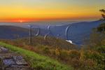 Sunrise, Moormans River Overlook, Shenandoah National Park, Virginia, USA
