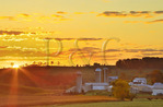 Farm in Swoope at sunrise, Shenandoah, Valley, Virginia, USA