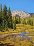Marcellina Mountain, Horse Ranch Park Loop Trail, Kebler Pass, Crested Butte, Colorado, USA