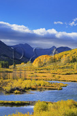 Sunset, Beaver Ponds, Slate River Road, Crested Butte, Colorado, USA