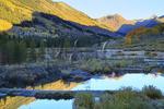 Sunrise, Beaver Ponds, Slate River Road, Crested Butte, Colorado, USA
