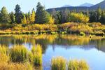 Sunset, Lily Lake, Rocky Mountain National Park, Estes, Colorado, USA