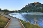 Sunrise, Lily Lake, Rocky Mountain National Park, Estes, Colorado, USA
