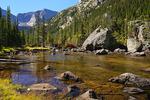Mills Lake, Mills Lake Trail, Rocky Mountain National Park, Estes, Colorado, USA