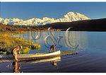 Canoers on Wonder Lake, Denali National Park, Alaska