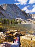 Lake Marie, Snowy Range Scenic Byway, Centennial, Wyoming, USA
