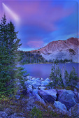 Sunrise, Lake Marie, Snowy Range Scenic Byway, Centennial, Wyoming, USA