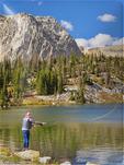 Mirror Lake, Snowy Range Scenic Byway, Centennial, Wyoming, USA