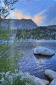 Sunset, Mirror Lake, Snowy Range Scenic Byway, Centennial, Wyoming, USA
