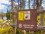 Medicine Bow Peak Trail, Lake Marie, Snowy Range Scenic Byway, Centennial, Wyoming, USA