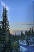 Sunrise, Sand Lake Road, Snowy Range Scenic Byway, Centennial, Wyoming, USA