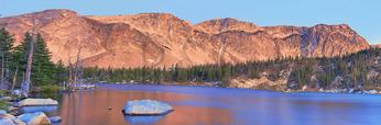 Sunrise, Mirror Lake, Snowy Range Scenic Byway, Centennial, Wyoming, USA