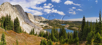 Medicine Bow Peak Trail, Lake Marie, Snowy Range Scenic Byway, Centennial, Wyoming, USA