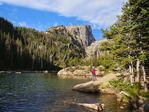 Dream Lake, Dream Lake Trail, Rocky Mountain National Park, Estes, Colorado, USA
