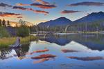 Sunrise, Sprague Lake, Sprague Lake Trail, Rocky Mountain National Park, Estes, Colorado, USA