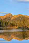 Sunrise, Sprague Lake, SpragueLake Trail, Rocky Mountain National Park, Estes, Colorado, USA