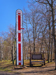 Snow Thermometer, Keweenaw Peninsula, Calumet, Michigan, USA