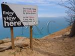 Pyrimid Point, Pyrimid Point Trail, Sleeping Bear Dunes National Lakeshore, Empire, Michigan, USA
