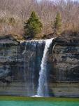 Cliff Waterfall, Pictured Rocks National Lakeshore, Munising, Michigan, USA