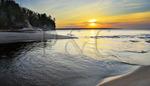 Miners River, Miners Beach, Pictured Rocks National Lakeshore, Munising, Michigan, USA